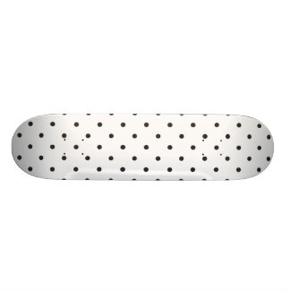 Fifties Style Black and White Polka Dot Skateboard Deck
