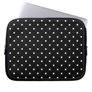Fifties Style Black Polka Dot Laptop/iPad 2 Case Laptop Sleeves