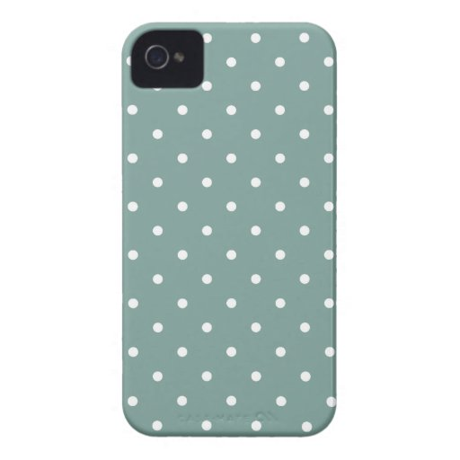 Fifties Style Blue Polka Dot Iphone 4/4S Case iPhone 4 Case