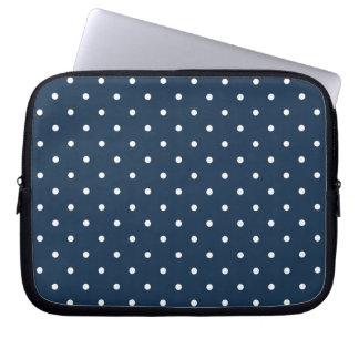 Fifties Style Blue Polka Dot Laptop/iPad 2 Case Computer Sleeves