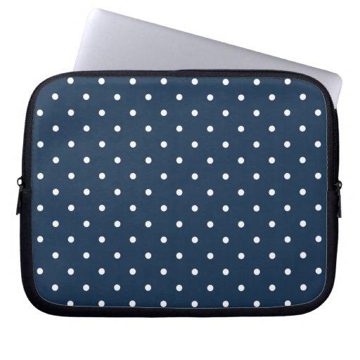 Fifties Style Blue Polka Dot Laptop/iPad 2 Case Laptop Computer Sleeves