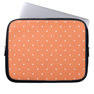 Fifties Style Coral Polka Dot Computer Sleeve