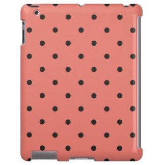 Fifties Style Coral Polka Dot iPad 2/3/4 Case