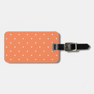 Fifties Style Coral Polka Dot Tag For Luggage