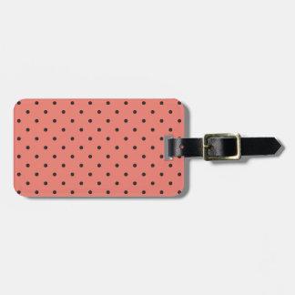 Fifties Style Coral Polka Dot Travel Bag Tags
