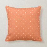 Fifties Style Coral Polka Dot Pillows