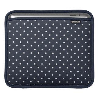 Fifties Style Dark Blue Polka Dot iPad 3 Sleeve iPad Sleeve