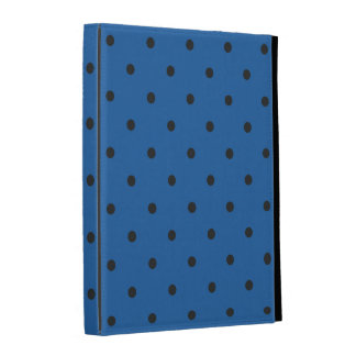 Fifties Style Dazzling Blue Polka Dot iPad Folio Case