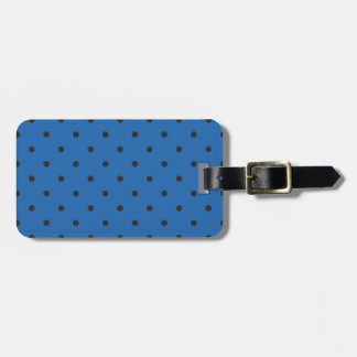 Fifties Style Dazzling Blue Polka Dot Luggage Tag