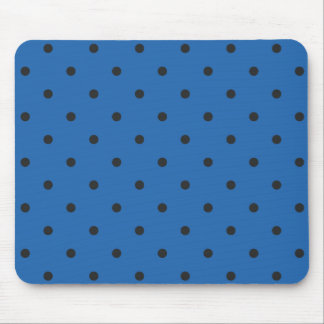 Fifties Style Dazzling Blue Polka Dot Mouse Pad