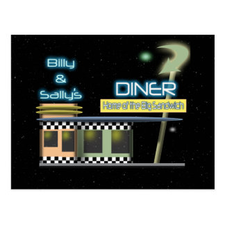 Fifties Style Diner Postcard
