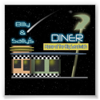 Fifties Style Diner Poster