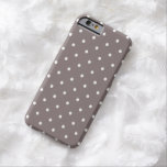 """Fifties Style Driftwood Polka Dot iPhone 6 case<br><div class=""""desc"""">Vintage style small polka dot  iPhone 6 case in Brown. Strong,  impact resistant Case-Mate protective iPhone 6 cover. Allows access to all ports,  sensors and controls. Available in other colors.</div>"""
