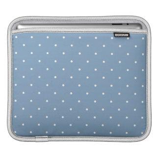 Fifties Style Dusk Blue Polka Dot iPad Sleeves