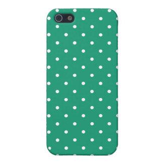 Fifties Style Emerald Green Polka Dot iPhone5 Case