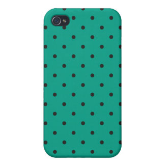 Fifties Style Emerald Green Polka Dot iPhone 4 Cases