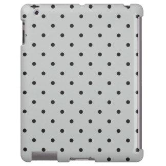 Fifties Style Gray Polka Dot iPad 2/3/4 Case