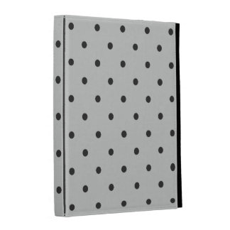 Fifties Style Gray Polka Dot iPad Cases