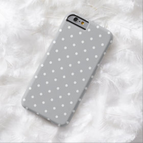 Fifties Style Gray Polka Dot iPhone 6 case