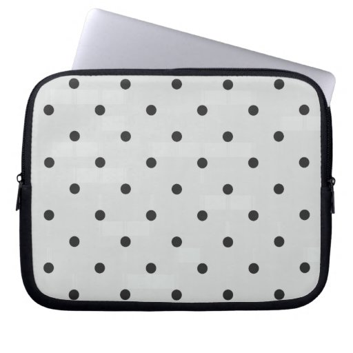 Fifties Style Gray Polka Dot Laptop Sleeves