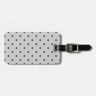 Fifties Style Gray Polka Dot Luggage Tag