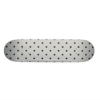 Fifties Style Gray Polka Dot Skateboard