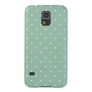 Fifties Style Grayed Jade Green Polka Dot Case For Galaxy S5