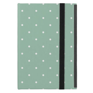 Fifties Style Grayed Jade Green Polka Dot Case For iPad Mini