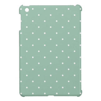 Fifties Style Grayed Jade Green Polka Dot iPad Mini Cover