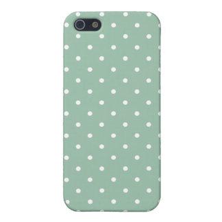 Fifties Style Grayed Jade Polka Dot iPhone 5 Case