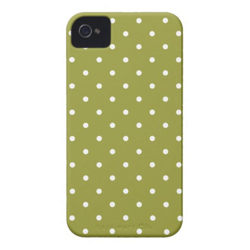 Fifties Style Green Polka Dot Iphone 4/4S Case Case-Mate iPhone 4 Cases