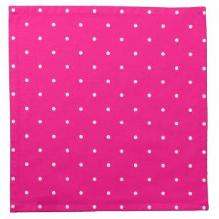 Fifties Style Hot Pink Polka Dot Cloth Napkin