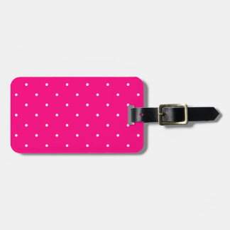 Fifties Style Hot Pink Polka Dot Tag For Bags