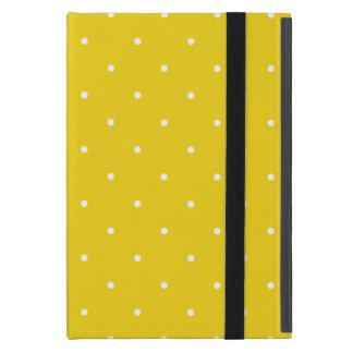 Fifties Style Lemon Yellow Polka Dot Cover For iPad Mini