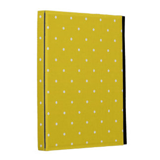 Fifties Style Lemon Yellow Polka Dot iPad Folio Covers