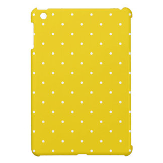 Fifties Style Lemon Yellow Polka Dot iPad Mini Cover