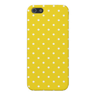 Fifties Style Lemon Yellow Polka Dot iPhone 5/5S C Case For iPhone SE/5/5s