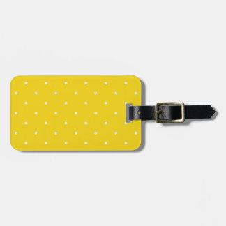 Fifties Style Lemon Yellow Polka Dot Luggage Tags
