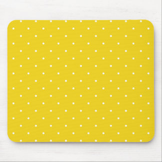 Fifties Style Lemon Yellow Polka Dot Mouse Pad