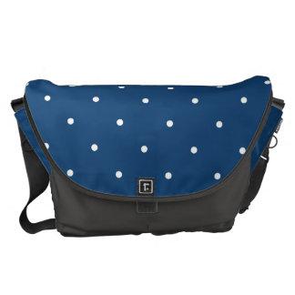 Fifties Style Monaco Blue Polka Dot Courier Bag