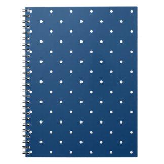 Fifties Style Monaco Blue Polka Dot Notepad Notebook