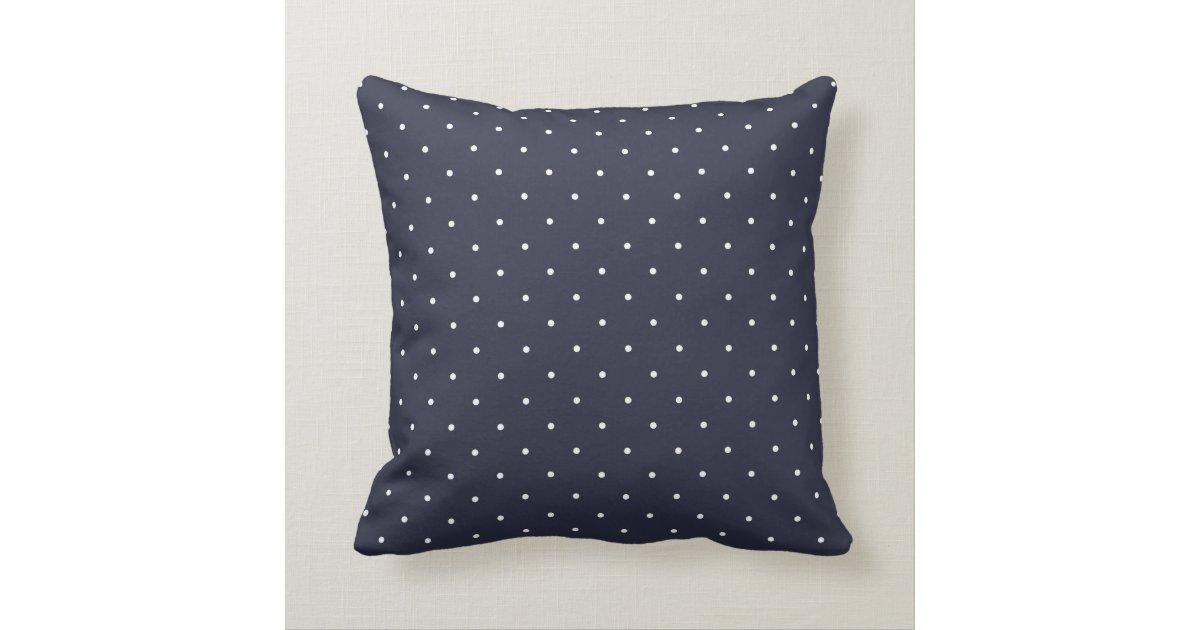 Fifties Style Navy Blue Polka Dot Throw Pillow Zazzle