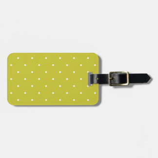 Fifties Style Olive Green Polka Dot Tags For Bags