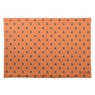 Fifties Style Orange Polka Dot Cloth Place Mat