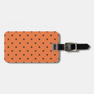 Fifties Style Orange Polka Dot Tag For Bags