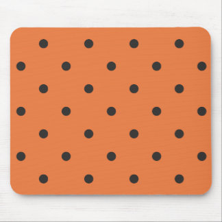 Fifties Style Orange Polka Dot Mouse Pad