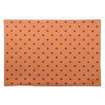 Fifties Style Orange Polka Dot Placemats