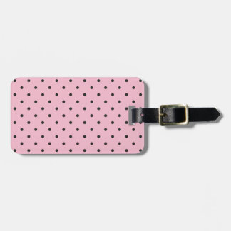 Fifties Style Pink Polka Dot Tags For Bags