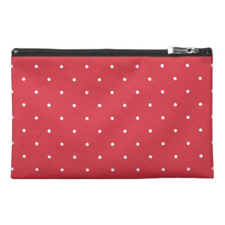 Fifties Style Poppy Red Polka Dot Travel Accessories Bag