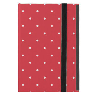 Fifties Style Poppy Red Polka Dot Cases For iPad Mini